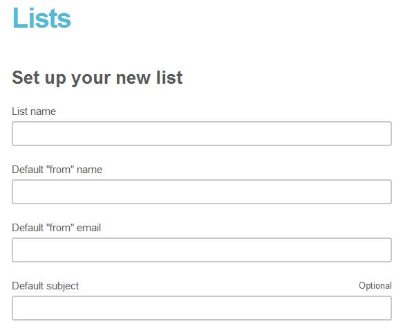 Создание списка в MailChimp