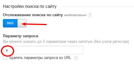 Настройка поиска по сайту в Гугл Аналитике